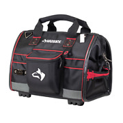 Husky Heavy Duty Large Mouth Tool Bag With Tool Wall 16 In. Storage Organizer