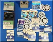 View-master Stereoscopes Reels Lot Roy Rogers Hawaii Five-o Queen Coronation Etc