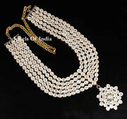 Handmade Natural Uncut Diamond Polki And 925 Sterling Silver Necklace Jewelry