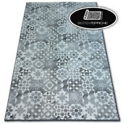 Modern Carpet Floor And039maiolicaand039 Grey Lisboa Patchwork Large Rugs On Dimensions