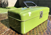 🧰 🛠⚒vintage Union Steel Corp. Tool Utility Tackle Box Green 13 X 6⚒🛠