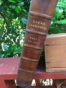 Coke The First Part Of The Institutes Of The Laws Of England...1656