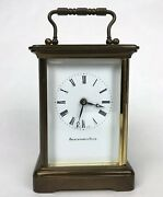 Vintage Abercrombie And Fitch Matthew Norman 8 Day Brass Carriage Clock 1754andnbsp11 J