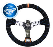New Nrg Kyle Mohan Steering Wheel 350mm 3 Deep Dish Suede Rst-036mb-s-kmr