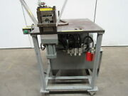 5 Hp Double Cylinder Custom Hydraulic Punch Press 2 Hole Punch For 1 Tube 460v