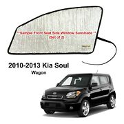 Yellopro Side Window Front Seat Reflective Sunshade For 2010-2013 Kia Soul 2pc