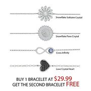 925 Sterling Silver Christmas Arrival Crystal Bracelets, Buy One Get One Free