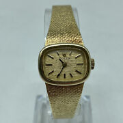 Rolex ♛ Vintage 14k Solid Yellow Gold Ladies Hand-wind Watch And Band 35.5 Grams