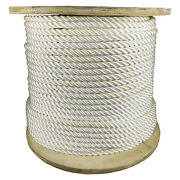 1 X 100and039 Nylon 3-strand 25300 Lb Bs Boating White