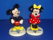 Disney Mickey And Minnie Mouse Figurines Schmid Porcelain Vintage New