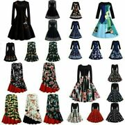 Fashion Women Vintage Prom Ball Gown Party Dress Lady Swing Maxi Short Dresses