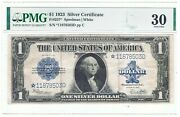 1923 1 Large Size Silver Certificate | Pmg Vf30 ☆star Note☆ Rare