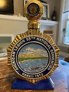 1973 American Legion 55th National Convention Empty Bottle Decanter Hawaii