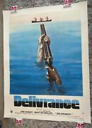 Deliverance French One Panel Linen Backed Original Film Poster 1972