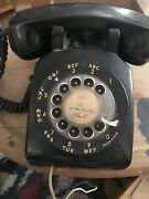 Vintage Western Electric Bell 500 Rotary Dial Antique Phone Black Works