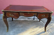 Large French Louis Revival Style Boulle Writing Desk
