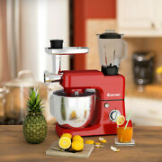 Heavy Duty Electric Meat Grinder Kitchen Mixer Blender Commercial 3 In 1 Red