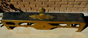 Antique Brass And Cast Iron Fireplace Fender Bumper Wood Stove Guard 47 Long X12