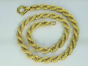 14k Gold Elegant Italian Necklace Chain 18 Inches 40.2 G