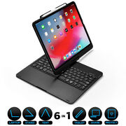Ipad Pro 11 12.9 Wireless Bluetooth Keyboard Case With Backlight 360 Rotatable