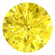 3.0 Mm Certified Round Fancy Yellow Color Si Loose Natural Diamond Wholesale Lot