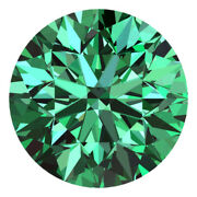 3.0 Mm Certified Round Fancy Green Color Si Loose Natural Diamond Wholesale Lot