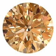 2.4 Mm Certified Round Champagne Color Vvs Loose Natural Diamond Wholesale Lot