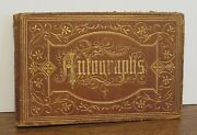 1870 S Hartford Public H.s. Autograph Book Owned By Clara Sweet Manchester Ct