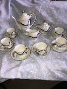 Dragon Vintage Japanese Tea Set 6 Cups And Saucers, Tea Pot, Cream And Sugar By Cdgc