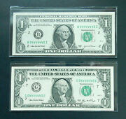 1 2003 A, 2006 Matching Serial Numbers Near Solid 4's, 04444440 Fancy Radar Unc