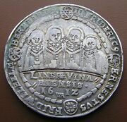 Germany Saxe-middle-weimar Silver Thaler 1612 Eight Brothers Rare