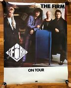 The Firm Jimmy Page - Paul Rodgers On Tour Rare Promo Poster 1986
