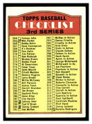 1972 Topps 251 Checklist 264-394 Scan Of The Card Youand039ll Receive Conditionvg-ex