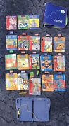 Leap Frog Leappad Plus Writing System With 18 Books And 15 Cartridges W/ Case