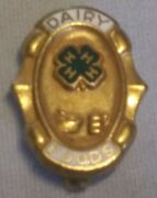 Vintage 4-h Dairy Foods Achievement Pin County Honor Carnation Company