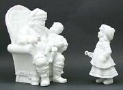 Department 56 Silhouette A Visit With Santa Set Of 2 Limited Edition Retired Nib