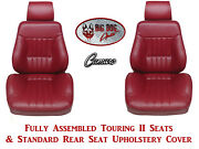 1980-81 Camaro Seats Standard Touring Ii Fully Assembled And Standard Rear Cover