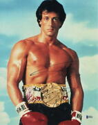 Sylvester Stallone Signed Autograph 11x14 Photo - Rocky Creed Rambo Beckett A