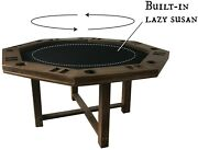 Spinning Center Gaming Table Built In Lazy Susan