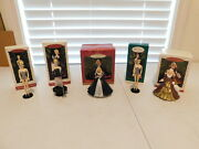 Lot Of 5 Hallmark Barbie Christmas Ornaments With Boxes