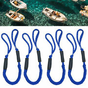 4 Pack Marine Bungee Dock Line Boat Mooring Rope Anchor Cord Stretch Blue