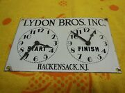 Vintage Lydon Bros. Porcelain Oven Timer With Clock Hands 1960and039s