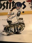 Dominik Hasek Autographed 8x10 Early 90andrsquos Buffalo Sabres