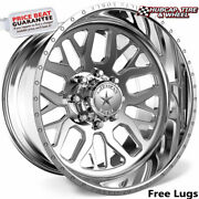 American Force Ck18 Panic Concave Polished 22x14 Truck Wheel 8 Lug Set Of 4