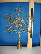 Tree Topper Paper Pulp Snowflake Gold Glitter 920824 521