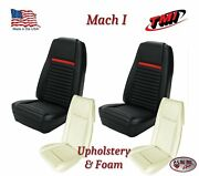 Front And Rear Seat Upholstery Covers + Foam 1969 Mustang Mach 1 Coupe Only