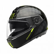 Schuberth C4 Pro Carbon Fusion Yellow Helmet - Many Sizes - Fastand Free Shipping