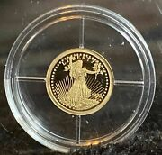 1933 Liberty Solid Gold Eagle 14k Gold Coin 0.5g American Mint 2003 Holder/coa