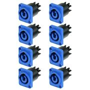 8x Neutrik Nac3mpa-1 Powercon Ac Connector Panel Mount Chassis Power In 20a 250v