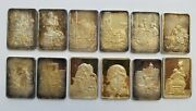 Norman Rockwell's 12 Best Loved Post Covers Hamilton Mint .999 Silver 1916-60